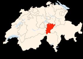 Carte du canton d'Uri