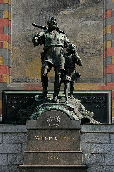 La statue de Guillaume Tell dans le canton d'Uri