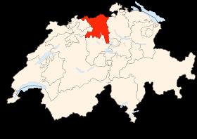Carte du canton d'Argovie