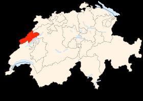 Carte du canton de Neuchâtel