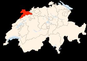 Carte du canton du Jura