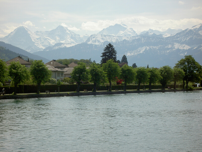 Le fleuve lAar à Interlaken