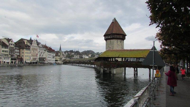 Le fleuve la Reuss à Lucerne