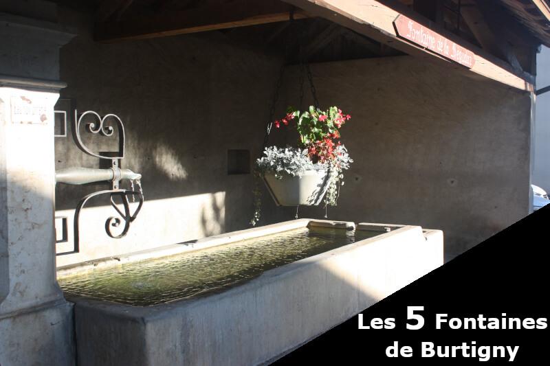 La fontaine de la Bégudaz à Burtigny