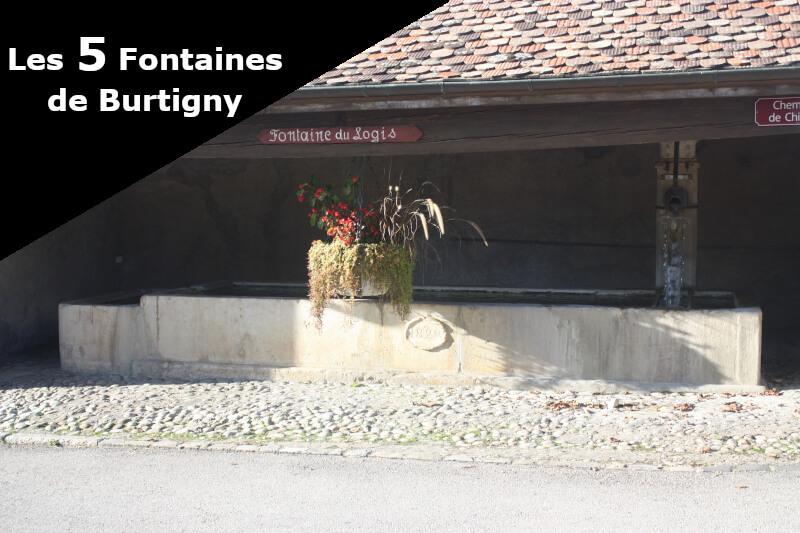 La fontaine du Logis à Burtigny