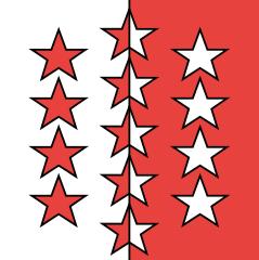 Le drapeau du canton du Valais