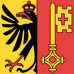 Le drapeau du canton de Genève