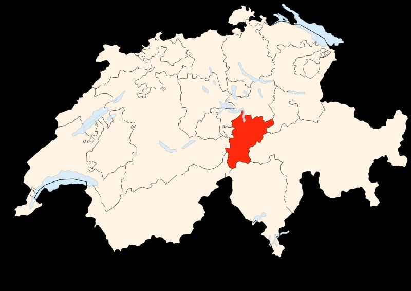 Carte Suisse - Situation d'Uri
