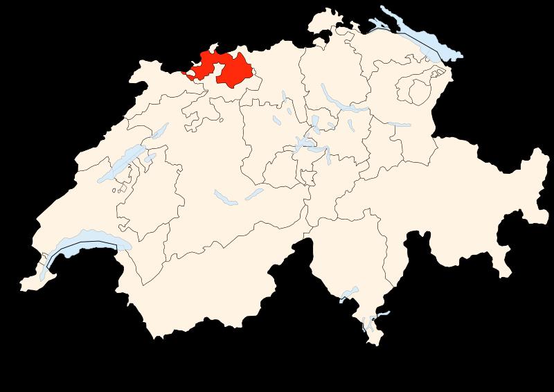 Carte Suisse - Situation de Bâle-Campagne