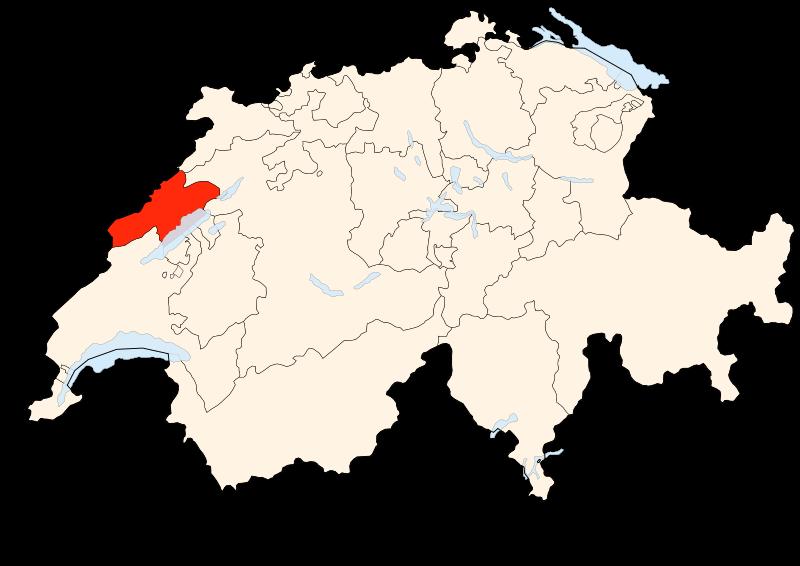 Carte Suisse - Situation de Neuchâtel