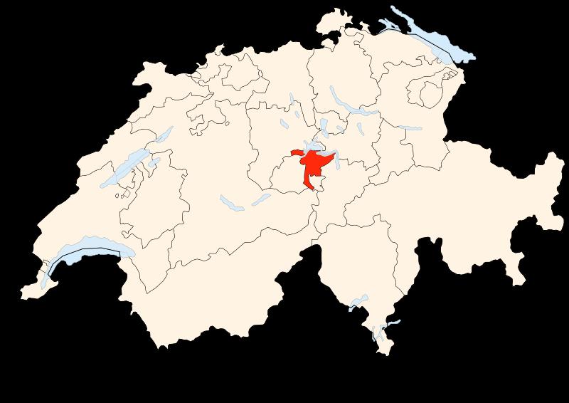Carte Suisse - Situation de Nidwald