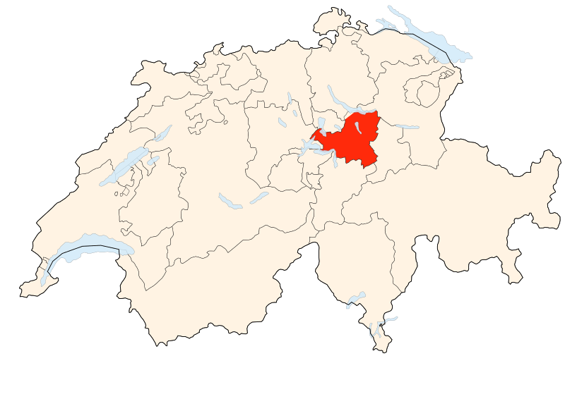 Carte Suisse - Situation de Schwytz