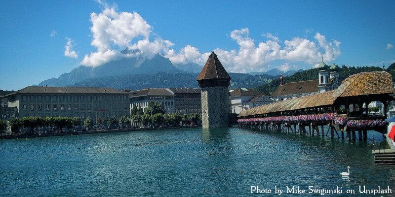Le pont de Lucerne dans le canton de Lucerne