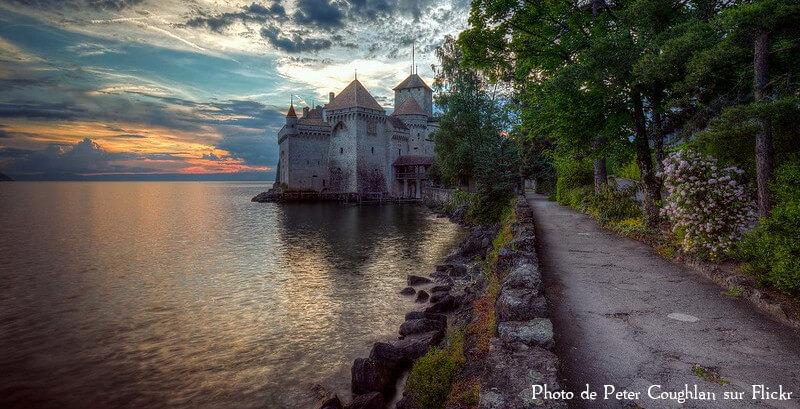 Le chateau de Chillon dans le canton de Vaud