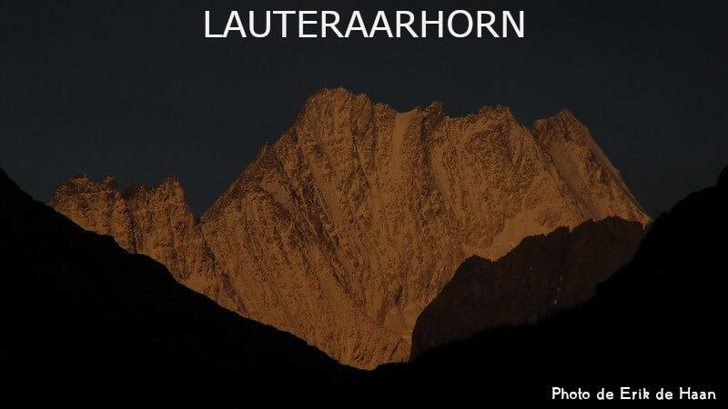Vignette - Le Lauteraarhorn au lever du jour