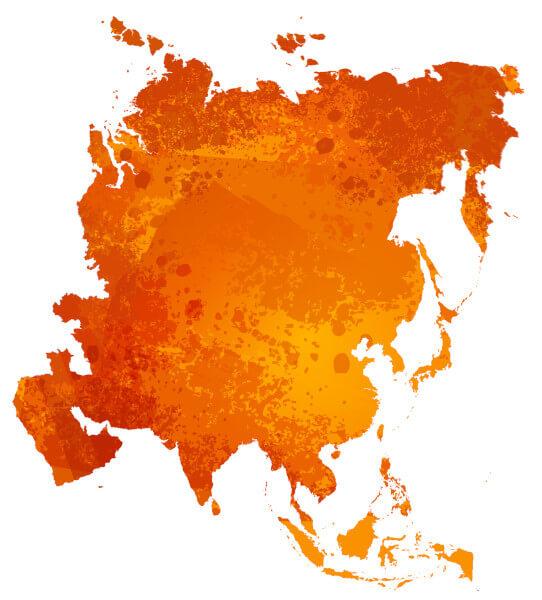 Le continent Asiatique