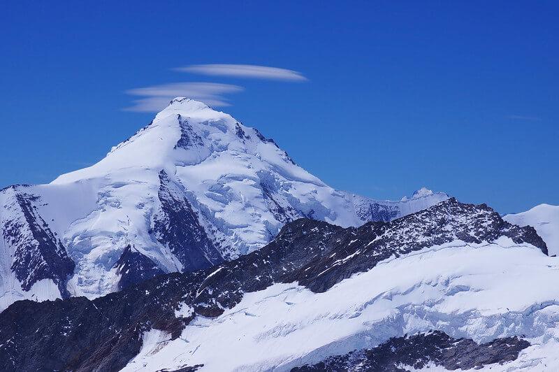 Le sommet de l'Aletschhorn (Photo de Claude Dopagne on Flickr)