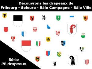 Comprendre les drapeaux de quatre cantons suisses