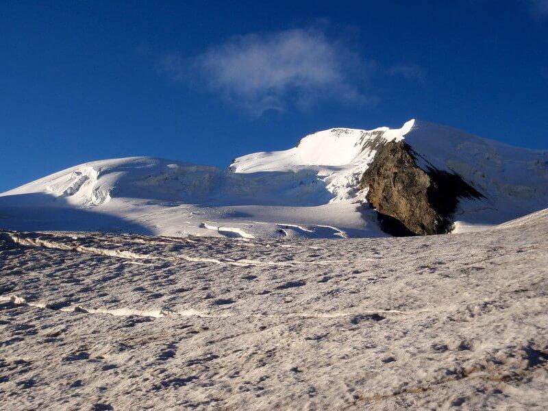 Vue du sommet du Strahlhorn (Photo de Emma on Flickr)