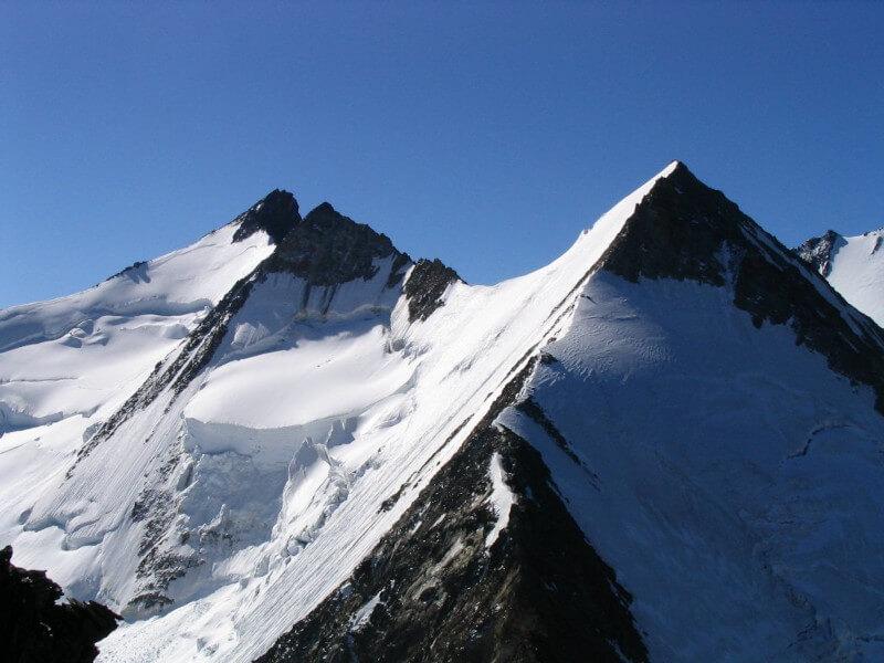 Le Nadelgrat vue depuis le Durrenhorn